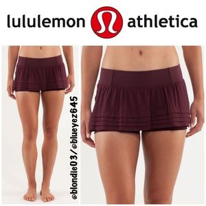 "Lululemon Breath of Fire"" skirt skort 6"